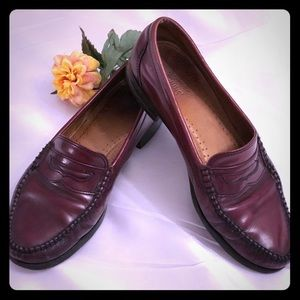 G.H. Bass Weejuns Burgundy Diane Penny Loafers 9.5